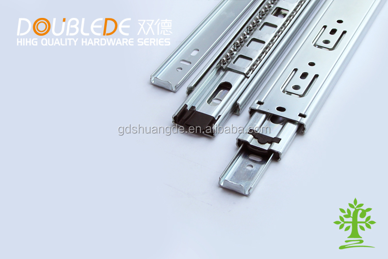 45mm width 3-fold ball bearing drawer slide rails/metal drawer slide rail/keyboard slide rail