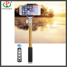 All round ball head hand held travel selfie stick,bluetooth remote new design 2016 monopod selfie stick