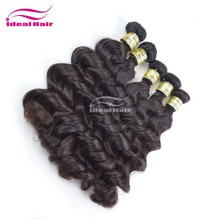 Cheap double drawn raw virgin unprocessed girls hair cutting styles