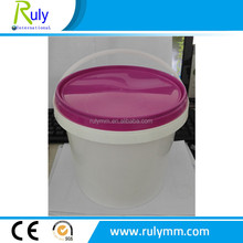2 L plastic bucket with lid for packing customer made