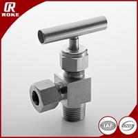 6000 PSI Hydraulic Right Angle SS316 1 / 4