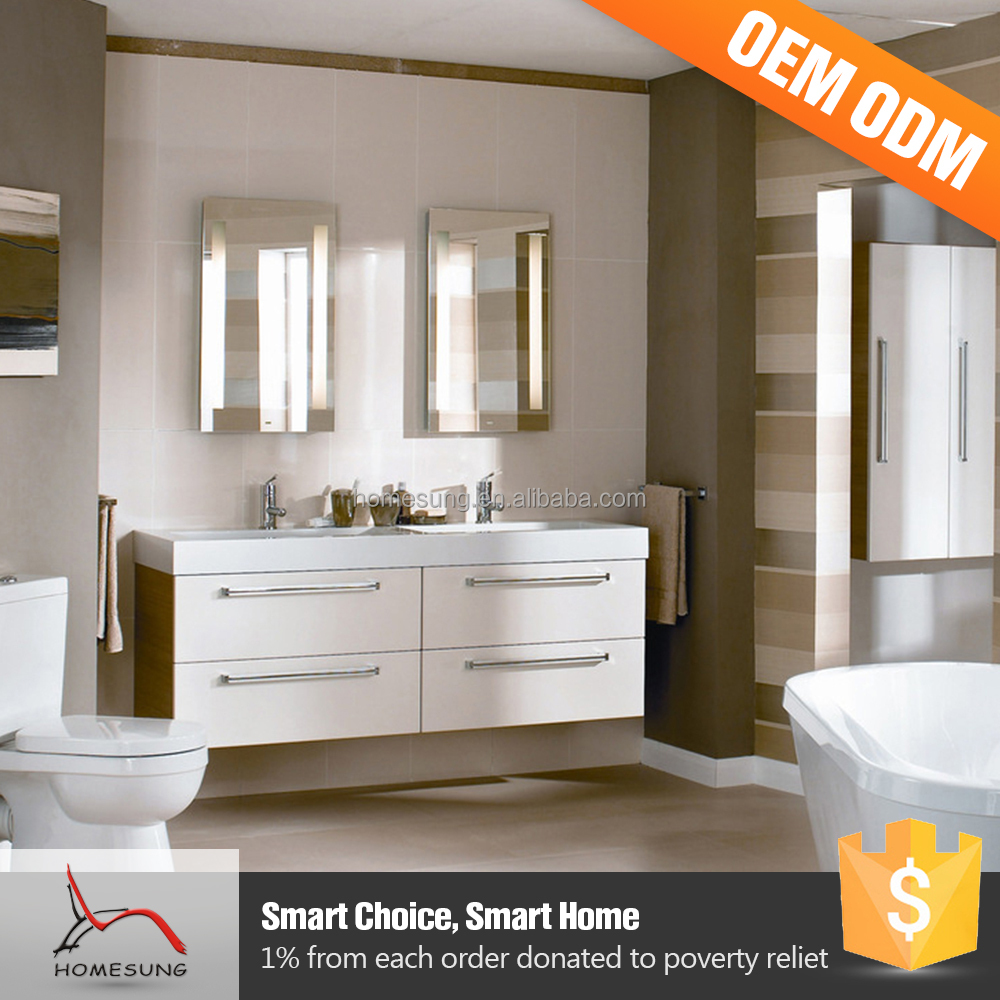 Wholesale Price Antique Counter Wooden Wash Basin Cabinet