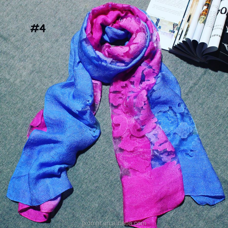 POLYESTER VISCOSE SHAWL FOR WOMAN