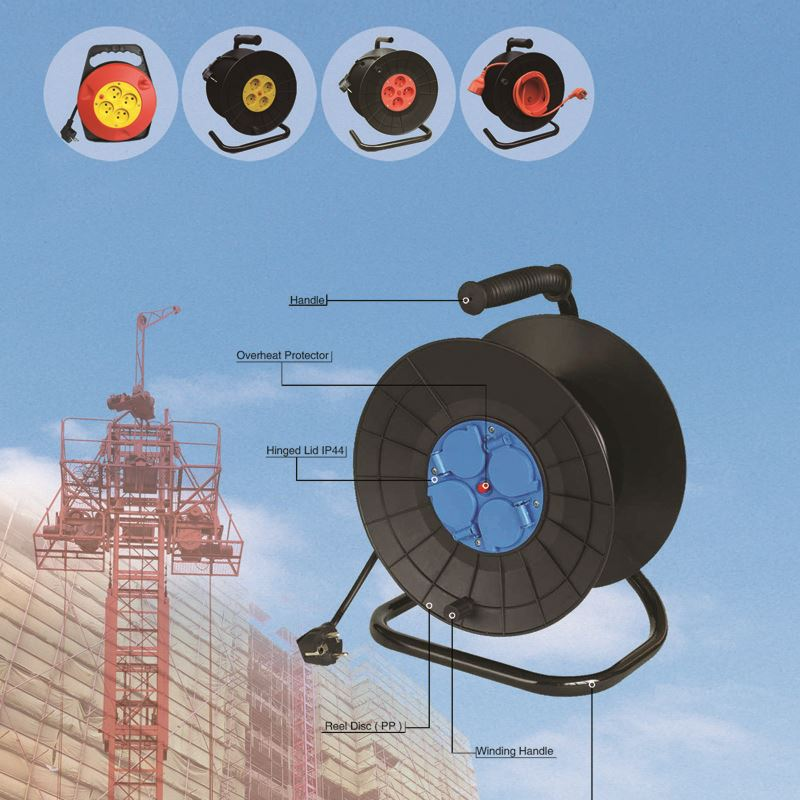heavy duty universal cable reel 30meter IP20 electric cable reel Italian type CE certificate