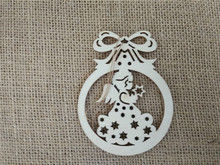 2014 new laser engraving crafts hanging christmas crafts