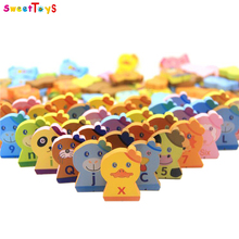 Wooden animal Dominoes Block Set Animal Blocks Kit Preschool Learning Educational for kids Montessori education toy .