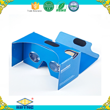 High Quality 3d glasses virtual reality google cardboard v2 custom printing