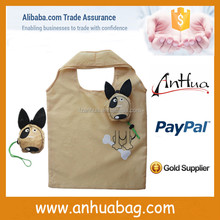 FSB058 dog animal shape foldable reusable polyester shopping bag