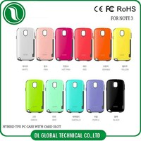 Mobile Phone TPU PC Mobile Iface cases covers for note 3 with credit card slot