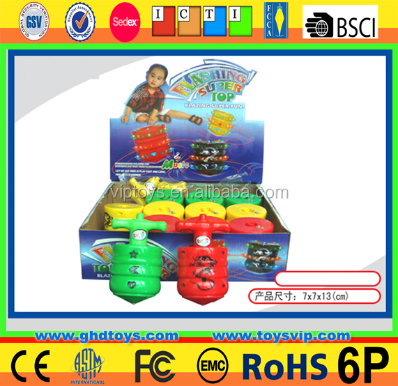 Spinning Top Wind Up Plastic music light Toys