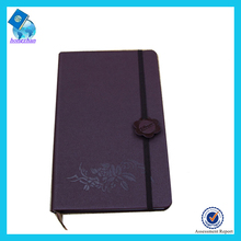 2016 Hot Sales Leather Notebook with elastic band for sale notebook clipboard