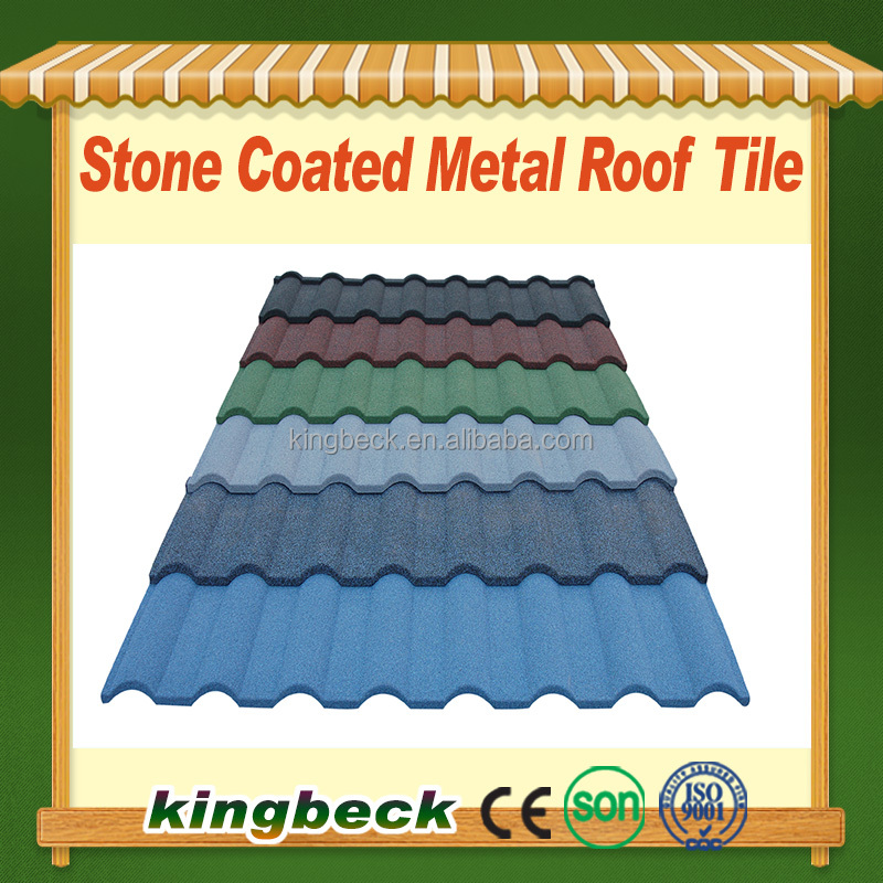 Chinese style roof tile Colorful stone al-zn coated metal roofing tile
