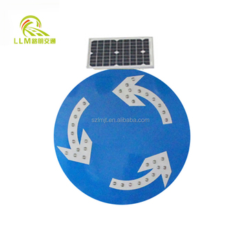 Road/Roadway/Highway Safety Solar Powered Led Traffic Warning Speed Limit Sign
