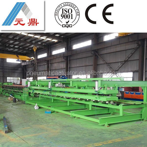 2014 new design color steel decking floor roll forming machine