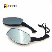 Boshi 1080P 170 Degree Motorcycle Rear View Camera 4 Inch Rearview Car Mirror Dash Cam