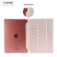Good quality PU leather clear PC cover for ipad mini 2 3 tablet case