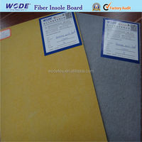 Raw material for sport shoes fiber insole board for footwear insole