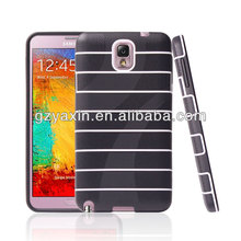 Wholesale stripes TPU case for Samsung galaxy Note 3 mobile phone case,unique phone cases for samsung galaxy note 3