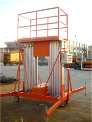 mobile two person electric hydraulic maintenance lifting,aerial working