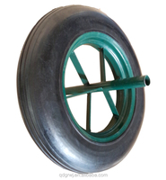 14X4 solid rubber WB6400 wheel for WHEELBARROW
