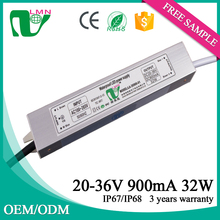 25-36V 900mA 32W Constant Current Waterproof LED driver