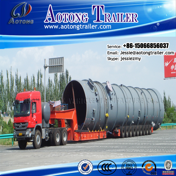China hydraulic lifted large tank or boat vessel ship transport modular truck trailer for sale