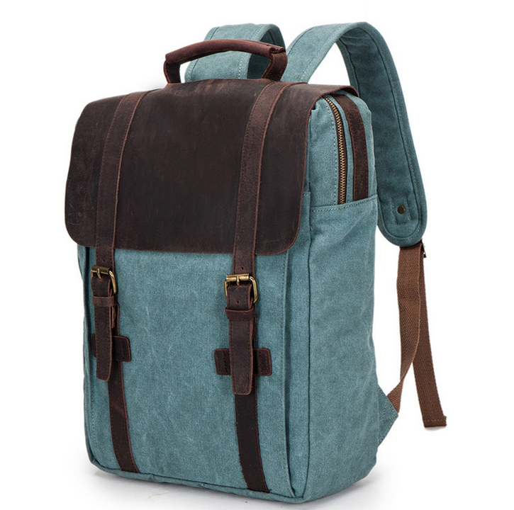 Fashionable high quality customized vintage canvas bags travel bags with leather trim