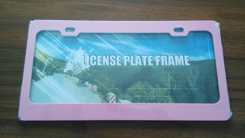 Colourful custom car license plate frame