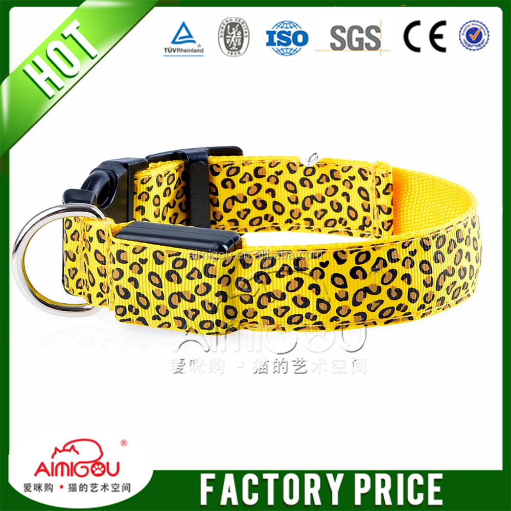 15YEARS nylon pet accessories led Pet Clothes Pet Collar Dog Collar