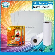 China Matte Coated Double Sided Inkjet Plotter Photo Paper Roll Cheap Waterproof Printing Bulk Photo Paper
