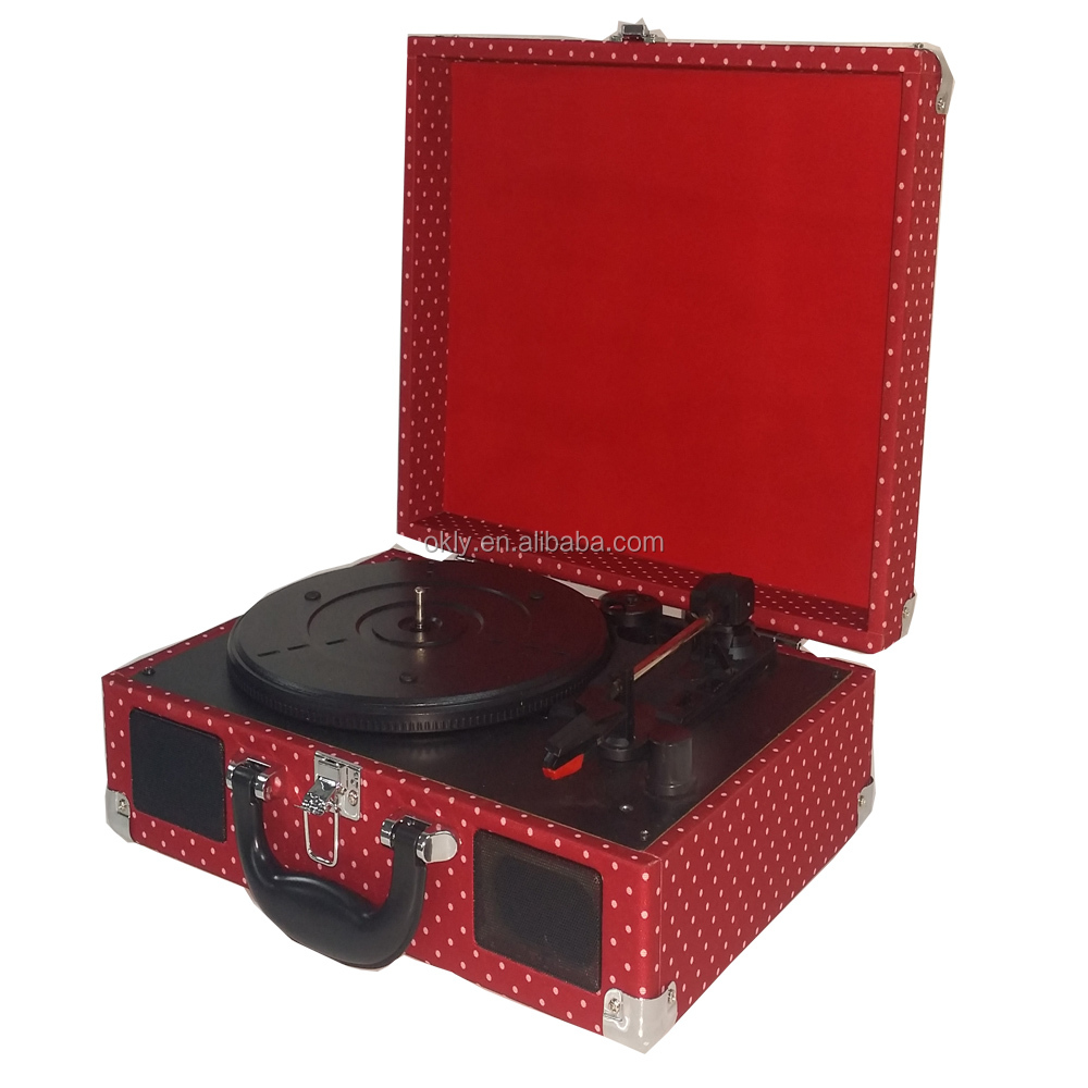 Bluetooth 3 Speed Vinyl Record Player Suitcase vinyl records wholesale
