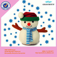 plush cute snowman toy with baby,hot new products for 2015