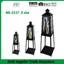 ML-2117 three size indoor and outdoor party lantern metal garden candle lantern