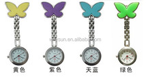100pcs Nurse Fob Watch Women Watches Pendant Clock Butterfly Shape DHL Freeshipping