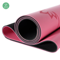 Non-slip Natural Rubber Extra Thick Black Exercise PU Yoga Mat With Customized Design