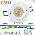 Lepu TUV SAA Cutout 75mm 8w cob led downlight Bloom CCT adjustable 2000-2800k