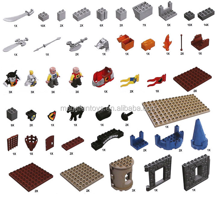 Hotsale New Kids Educational 125PCS War Series Duplo Plastic Building Block Toys