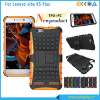 Hot Selling pc+tpu Hybrid Kickstand Back Cover Phone Case for lenovo 3 vibe K5 Plus , cover case for lenovo 3 vibe K5 Plus