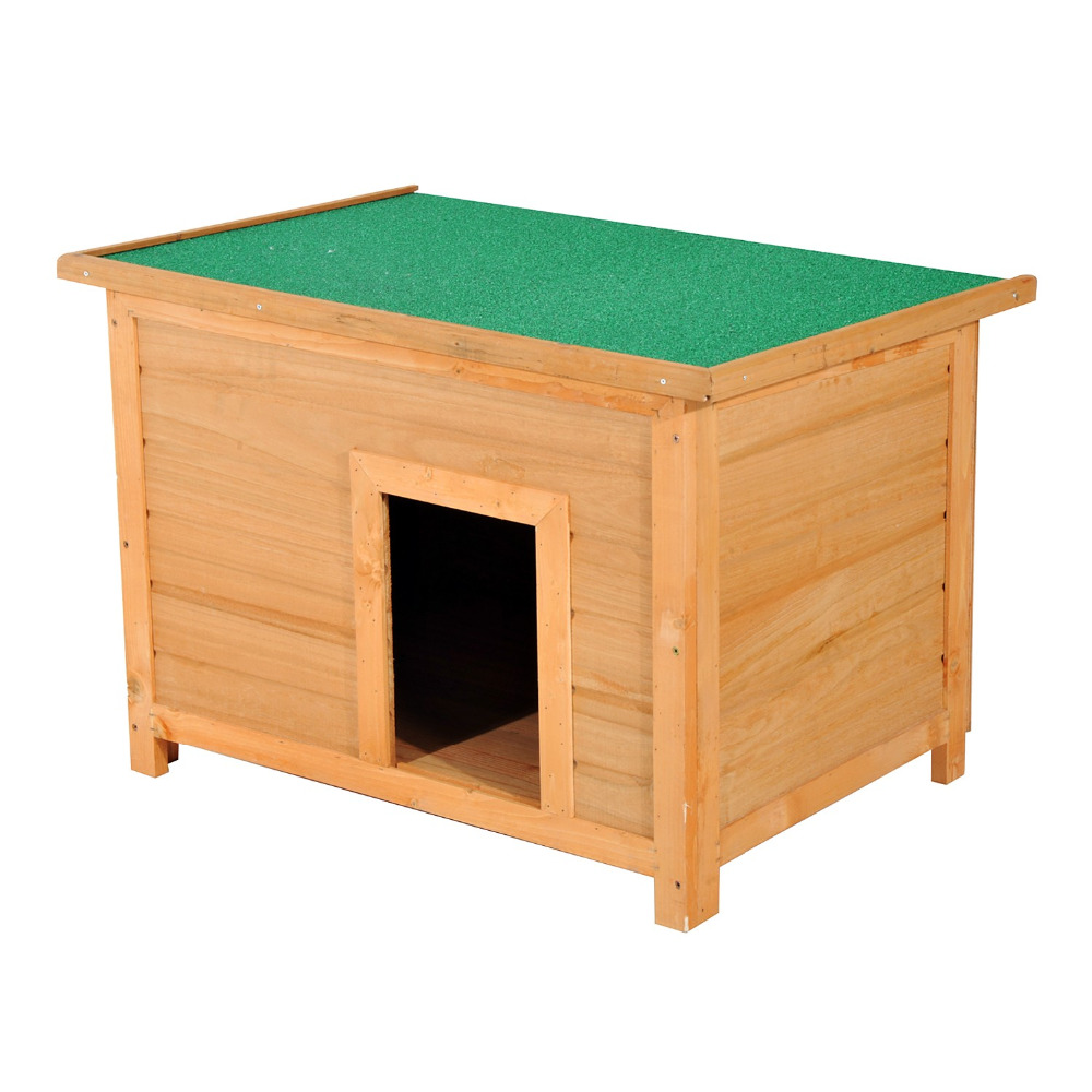 "3"" Elevated Wooden Outdoor Dog Kennel"