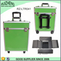 Green Rolling Trolley Makeup Beauty Train Case