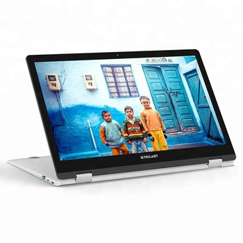 Super Slim Laptop Computer  Quad Core 360 Degree Rotating Notebook  FHD Fingerprint  Metal Case Laptop