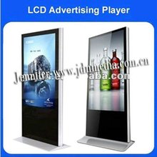 42 inch hotel lobby lcd video monitor signage kiosk/video display kiosks/free standing video screen kiosk