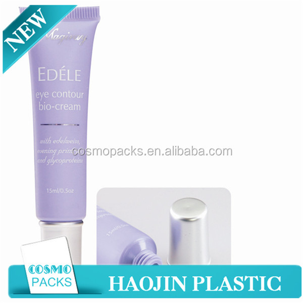Customized Size Flat Oval Soft Cosmetic Tubes for Facial Care Cream and Body Lotion