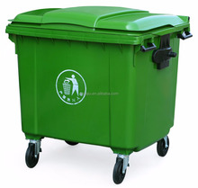 660 liter plastic garbage bin,big size plastic dustbin and big waste container on sale