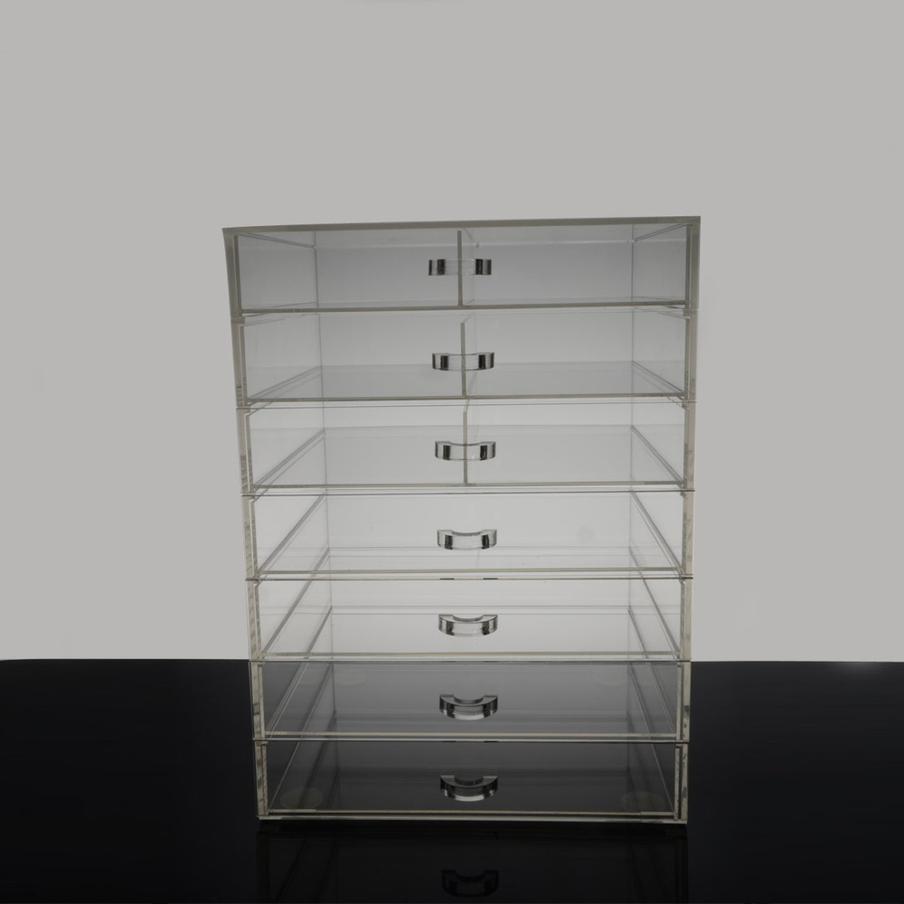 2015 best selling wholesale acrylic makeup organizer with drawers