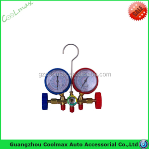 Wholesale refrigerant manifold gauge dual Digital pressure gauge suitable for R410A R134a R407C