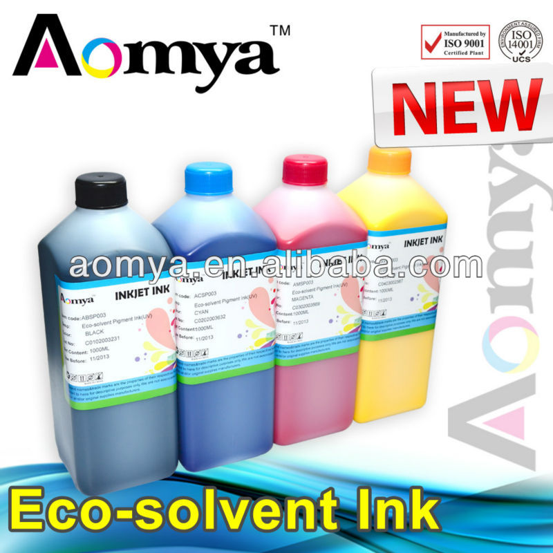Aomya high quality UV-proof outdoor compatible eco solvent ink DX5-7/ Roland/Mimaki/Mutoh piezo electronic printhead