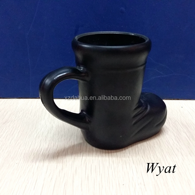 black glass beer boot cup boot shaped beer glass with handle