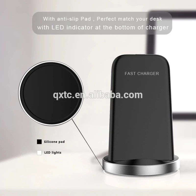 10W double coils Wireless mobile phone charger phone qi wireless charger for iPhone 8/plus/X