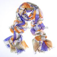 100% Cahmere Tulip-printing pashmina cashmere scarf/shawl/stole